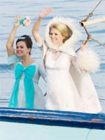 January Jones (right) in The Boat That Rocked