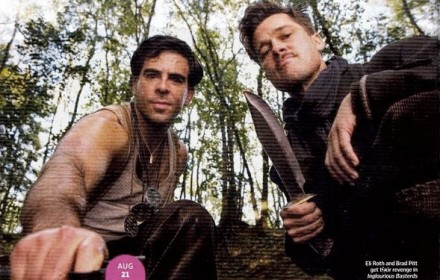 (from left) Eli Rotha nd Brad Pitt in Ingourious Basterds