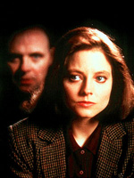 (from left) Anthony Hopkins and Jodie Foster in The Silence of the Lambs