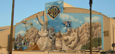Warner Bros. mural before