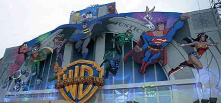 Warner Bros. mural after