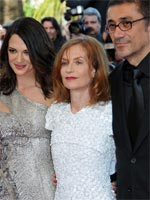 (from left) Asia Argento, Isabelle Huppert and Nuri Bilge Ceylan