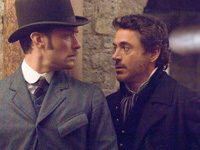 (from left) Jude Law and Robert Downey Jr. in Sherlock Holmes