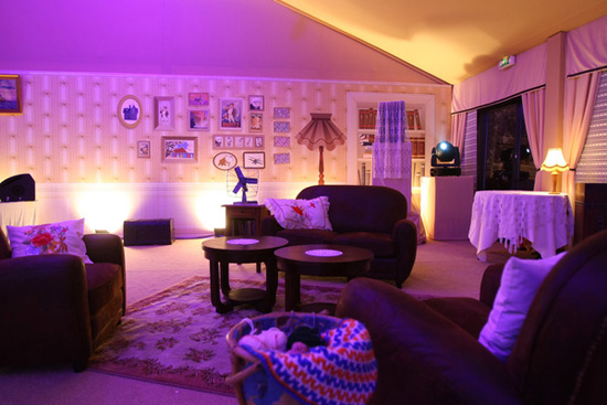 Inside one of the tents at the Up party at the 62nd International Cannes Film Festival