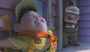 (from left) Jordan Nagai (voice) and Ed Asner (voice) in Up