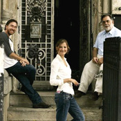 (from left) Tim Roth, Alexandra Maria Lara and Francis Ford Coppola on the set of Youth Without Youth
