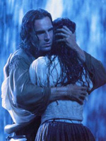 (from left) Daniel Day-Lewis and Madeline Stowe in The Last of the mohicans