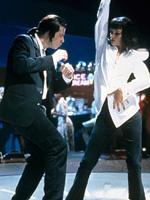 (from left) John Travolta and Uma Thurman in Pulp Fiction