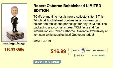 Robert Osborne bobble head
