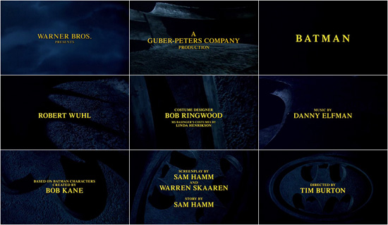 Batman opening titles sequence