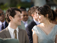 (from left) Joseph Gordon-Levitt and Zooey Deschanel in (500) Days of Summer