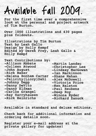 Tim Burton announcement
