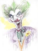 Joker artwork by Tim Burton