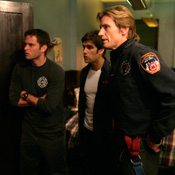 (from left) Steve Pasquale, Mike Lombardi and Denis Leary in Rescue Me
