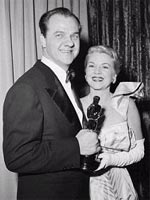 Karl Malden and Claire Trevor at the 1951 Academy Awards