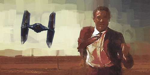 North by Northwest meets Star Wars