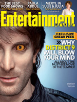 Sharlto Copley on the cover of Entertainment Weekly