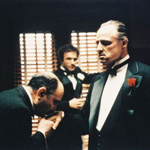 James Caan and Marlon Brando in The Godfather