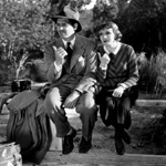 (from left) Clark Gable and Claudette Colbert in It Happened One Night