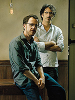(from left) Ethan Coen and Joel Coen
