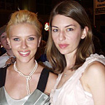 (from left) Scarlett Johansson and Sofia Coppola at he 28th annual Toronto Film Festival