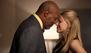 (from left) Samuel L. Jackson and Naomi Watts in Mother and Child