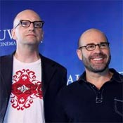 (from left) Steven Soderbergh and Scott Z. Burns