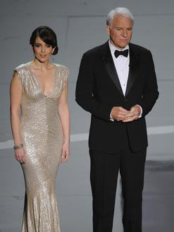Tina Fey and Steve Martin at the 81st Annual Academy Awards