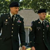 (from left) Woody Harrelson and Ben Foster in The Messenger