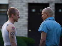 (from left) Ben Foster and Woody Harrelson in The Messenger