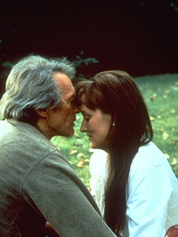 (from left) Clint Eastwood and Meryl Streep in The Bridges of Madison County