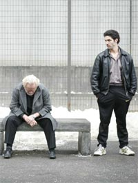 (from left) Niels Arestrup and Tahar Rahim in A Prophet