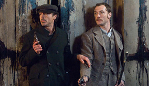 (from left) Robert Downey Jr. and Jude Law in Sherlock Holmes