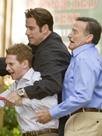 (from left) Seth Green, John Travolta and Robin Williams in Old Dogs