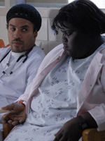 (from left) Lenny Kravitz and Gabourey Sidibe in Precious