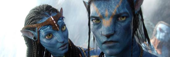 (from left0 Zoe Saldana and Sam Worthington in Avatar