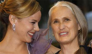 Abbie Cornish and Jane Campion at Cannes in May 2009