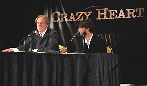 (from left) T Bone Burnett and Ryan Bingham at the Los Angeles press day for Crazy Heart