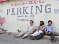 (from left) Ed Helms, Zach Galifianakis and Bradley Cooper in The Hangover