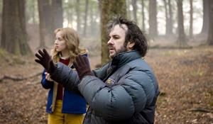 (from left) Saoirse Ronan and Peter Jackson on the set of The Lovely Bones