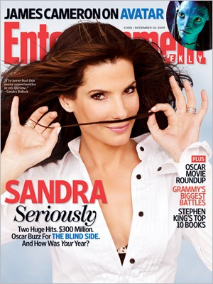 Sandra Bullock on the cover of Entertainment Weekly