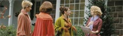 Patricia Clarkson (second from right) and Julianne Moore (right) in Far From Heaven