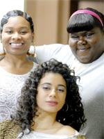 (from left) Chyna Layne, Amina Robinson and Gabourey Sidibe in Precious