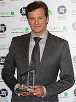 Best British Actor winner Colin Firth at the London Film Critics' Circle awards