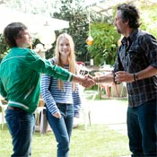 (from left) Josh Hutcherson, Mia Wasikowska and Mark Ruffalo in The Kids Are All Right