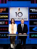 Anne Hathaway and Tom Sherak announcing the 2009 Academy Award nominations